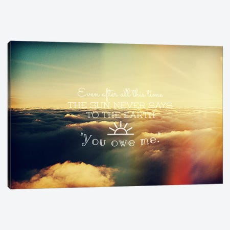 You Owe Me Canvas Print #ILS3} by 5by5collective Art Print