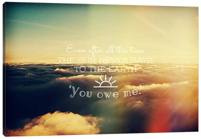 You Owe Me Canvas Art Print
