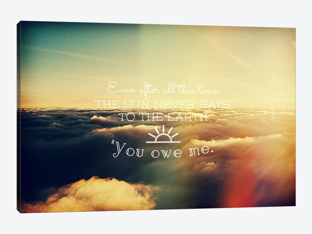 You Owe Me by 5by5collective 1-piece Canvas Art
