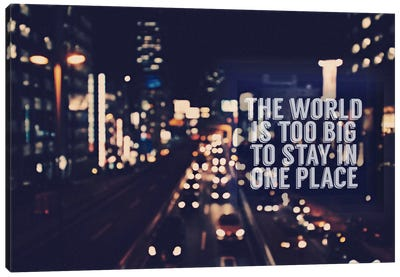 The World is too Big Canvas Print #ILS4