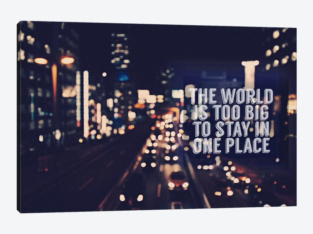 The World is too Big 1-piece Canvas Art Print