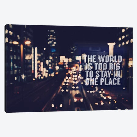 The World is too Big Canvas Print #ILS4} by 5by5collective Canvas Artwork