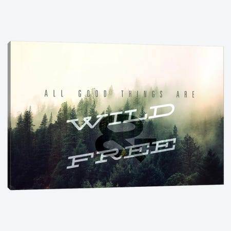 Wild and Free Canvas Print #ILS6} by 5by5collective Canvas Artwork