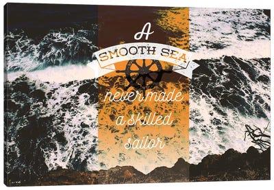 A Smooth Sea Canvas Art Print
