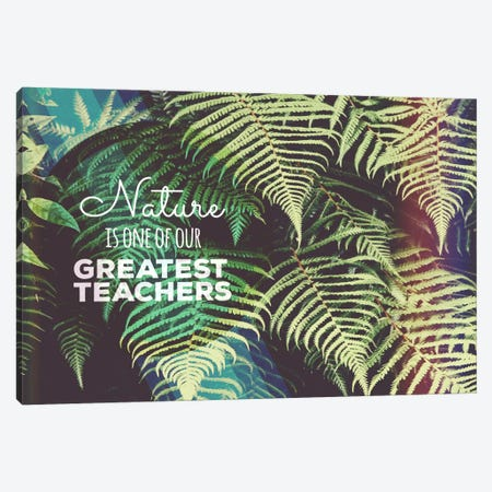 Greatest Teacher Canvas Print #ILS8} by 5by5collective Canvas Print
