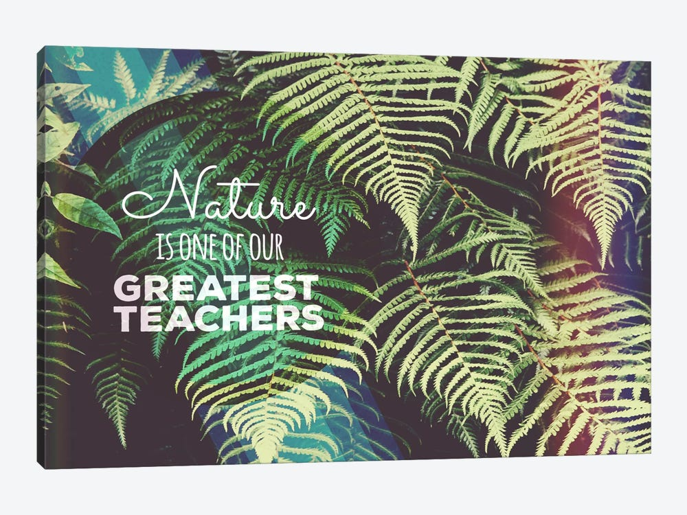 Greatest Teacher by 5by5collective 1-piece Canvas Print