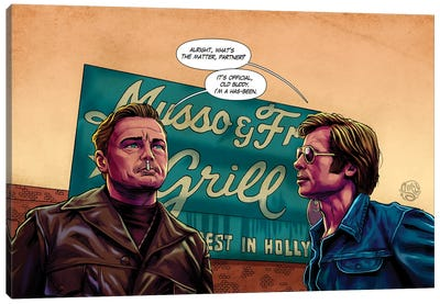 Once Upon A Time In Hollywood Canvas Art Print