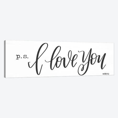 P.S. I Love You Canvas Print #IMD100} by Imperfect Dust Canvas Wall Art