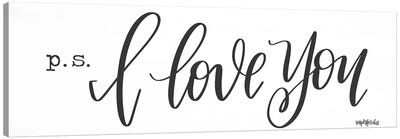 P.S. I Love You Canvas Art Print
