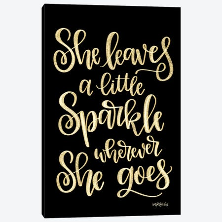 She Leaves a Little Sparkle II Canvas Print #IMD102} by Imperfect Dust Canvas Wall Art
