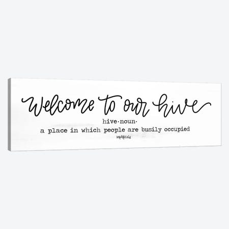 Welcome to Our Hive Canvas Print #IMD105} by Imperfect Dust Art Print