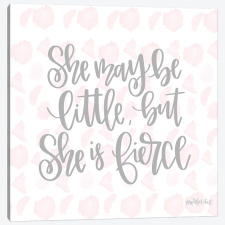 She is Fierce Canvas Print #IMD10} by Imperfect Dust Canvas Artwork