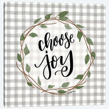 Choose Joy Canvas Print #IMD111} by Imperfect Dust Canvas Art Print