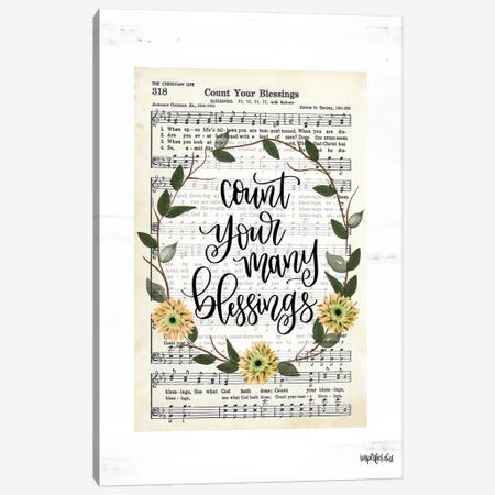 Count Your Many Blessings Canvas Print #IMD113} by Imperfect Dust Canvas Art Print