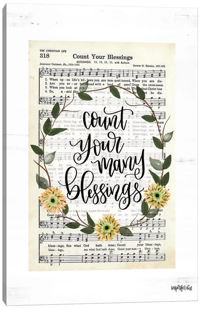 Count Your Many Blessings Canvas Art Print