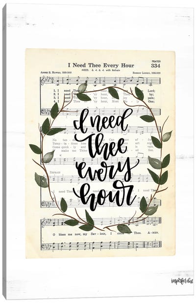 I Need Thee Every Hour Canvas Art Print