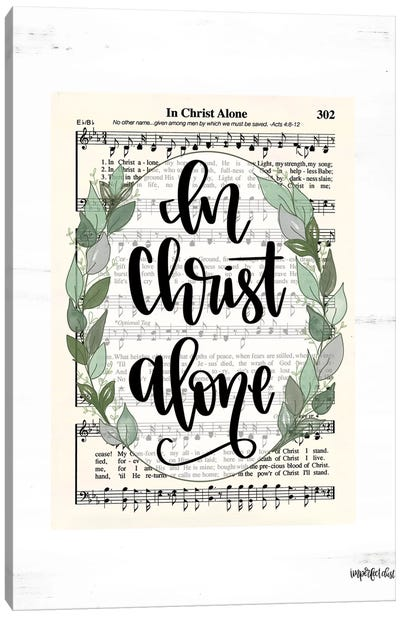 In Christ Alone Canvas Art Print