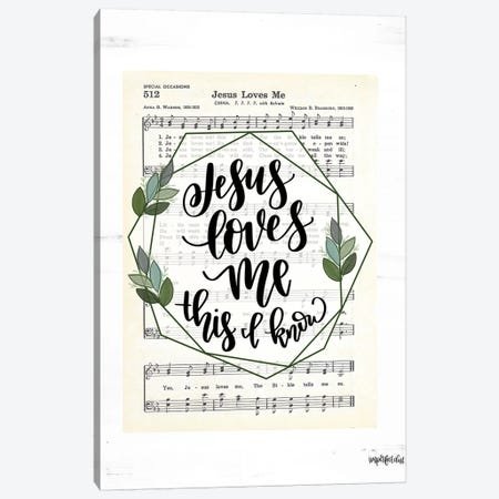 Jesus Loves Me Canvas Print #IMD120} by Imperfect Dust Canvas Artwork