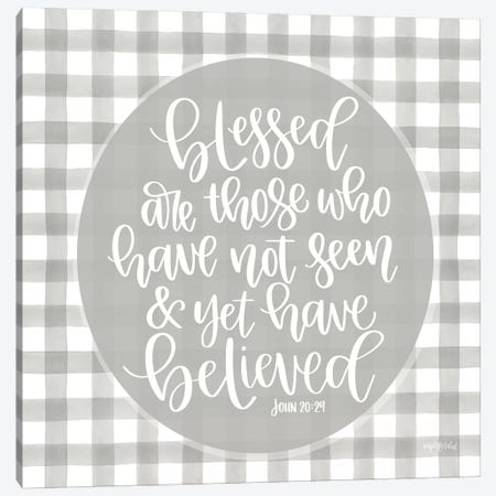 Blessed Are Those Canvas Print #IMD131} by Imperfect Dust Canvas Art Print