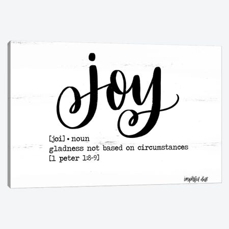 Joy Canvas Print #IMD136} by Imperfect Dust Canvas Art
