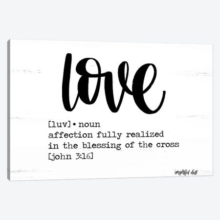 Love Canvas Print #IMD137} by Imperfect Dust Canvas Art