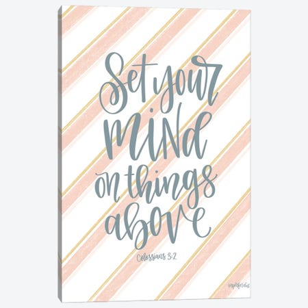 Set Your Mind On Things Above I Canvas Print #IMD141} by Imperfect Dust Canvas Wall Art
