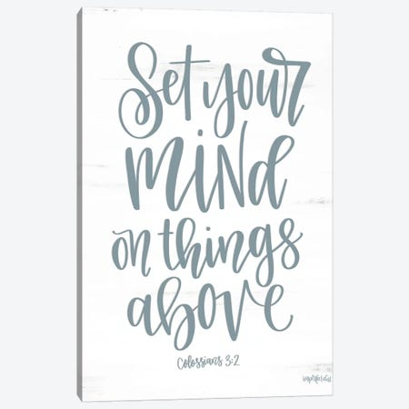 Set Your Mind On Things Above II Canvas Print #IMD142} by Imperfect Dust Canvas Art