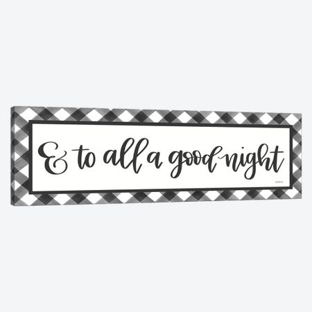 To All A Good Night Canvas Print #IMD154} by Imperfect Dust Canvas Artwork