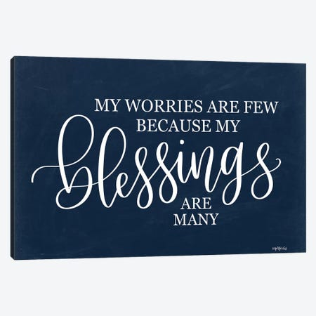 My Blessings are Many II     Canvas Print #IMD159} by Imperfect Dust Canvas Print