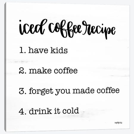 Iced Coffee Recipe Canvas Print #IMD167} by Imperfect Dust Art Print