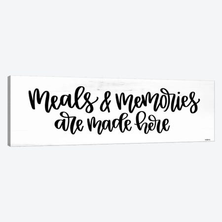 Meals + Memories Canvas Print #IMD170} by Imperfect Dust Canvas Print