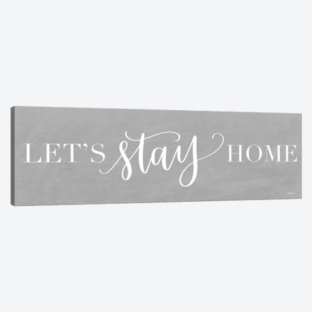Let's Stay Home I Canvas Print #IMD171} by Imperfect Dust Canvas Art Print