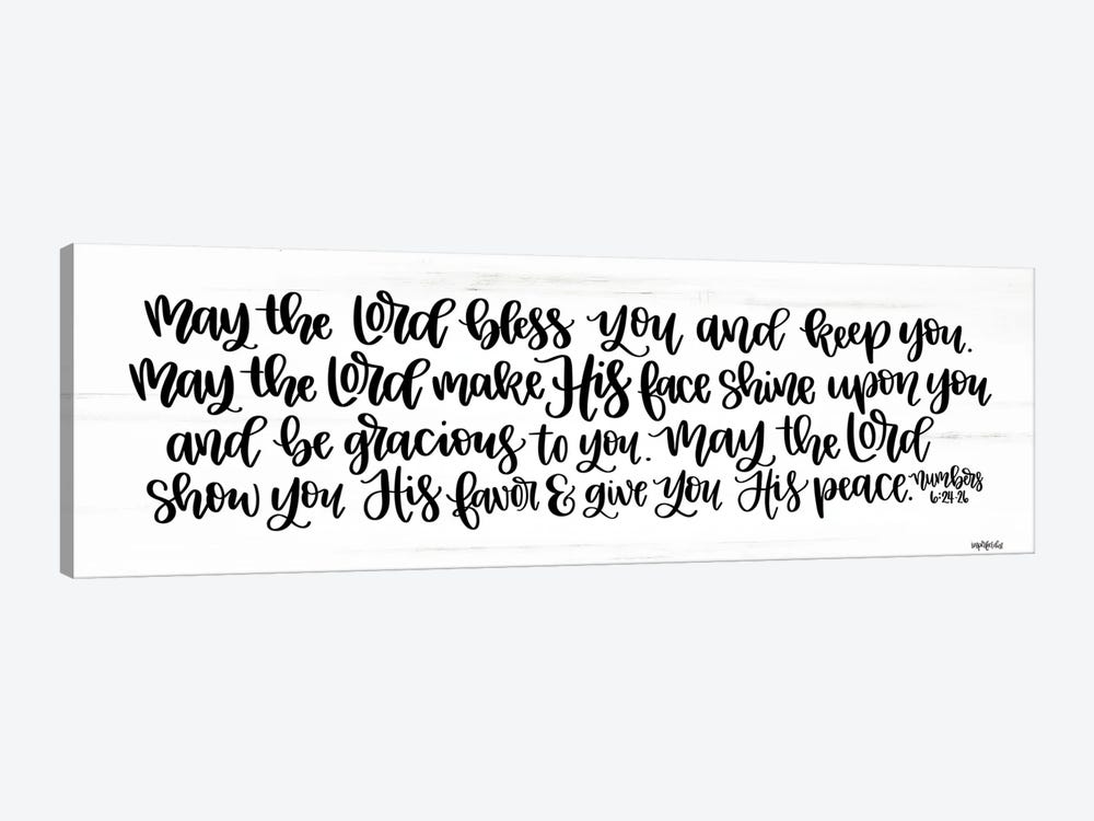 May the Lord Bless You and Keep You    by Imperfect Dust 1-piece Canvas Wall Art