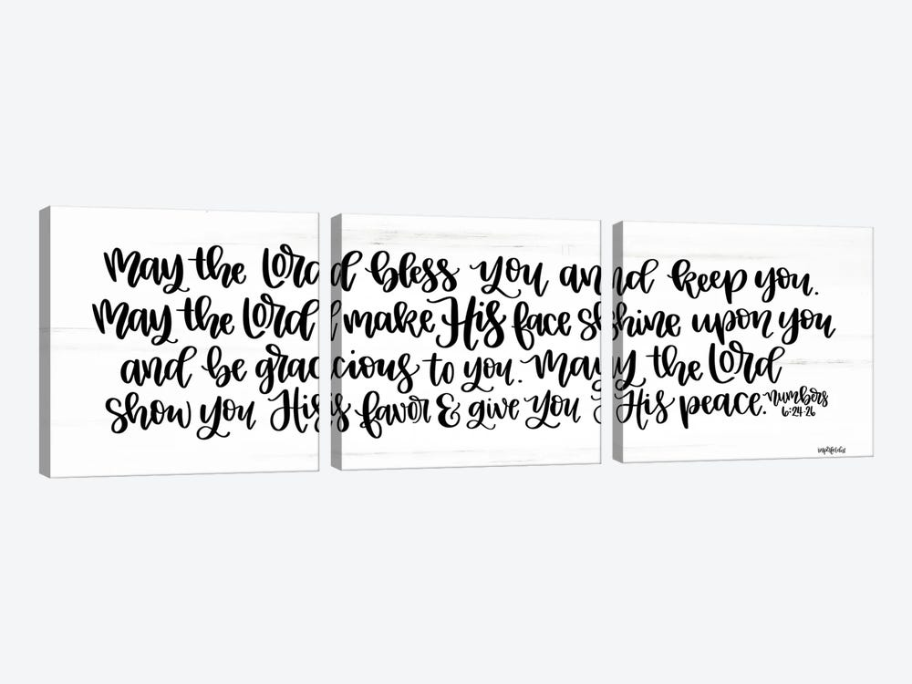 May the Lord Bless You and Keep You    by Imperfect Dust 3-piece Canvas Artwork