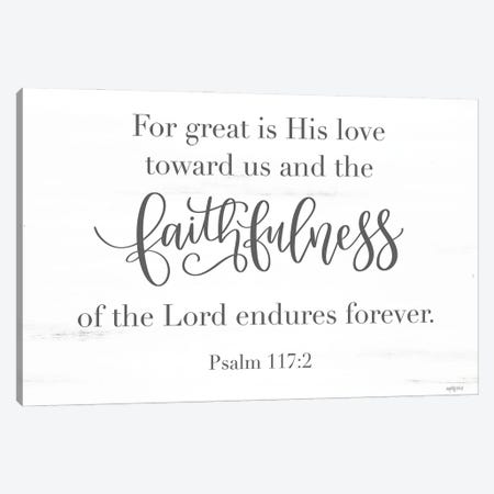 Faithfulness Canvas Print #IMD176} by Imperfect Dust Canvas Art