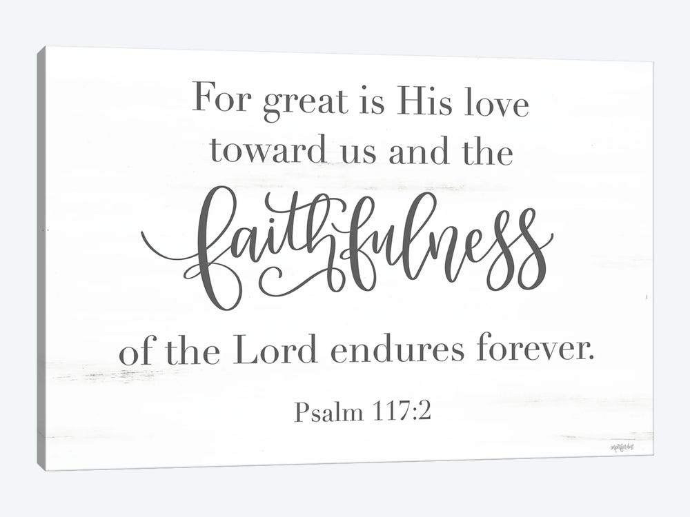 Faithfulness by Imperfect Dust 1-piece Canvas Art