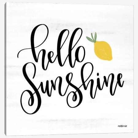 Hello Sunshine Canvas Print #IMD178} by Imperfect Dust Canvas Art Print