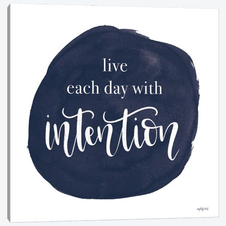Intention Canvas Print #IMD180} by Imperfect Dust Canvas Artwork