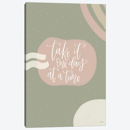One Day at a Time Canvas Print #IMD186} by Imperfect Dust Canvas Print