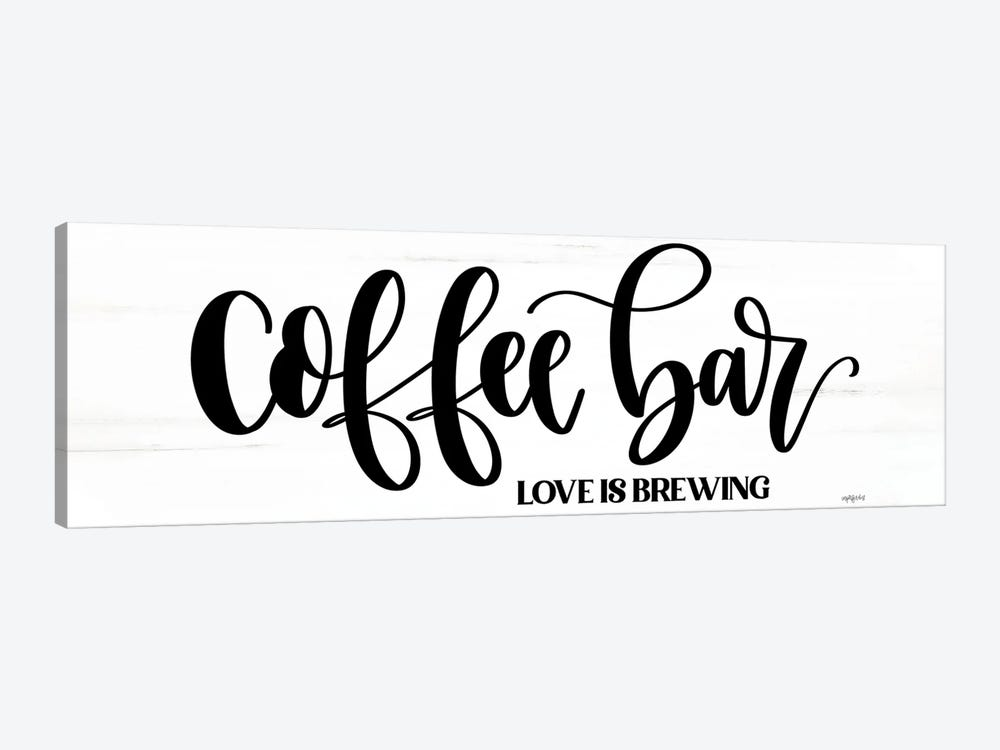 Coffee Bar by Imperfect Dust 1-piece Canvas Art