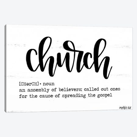 Church Canvas Print #IMD19} by Imperfect Dust Canvas Artwork