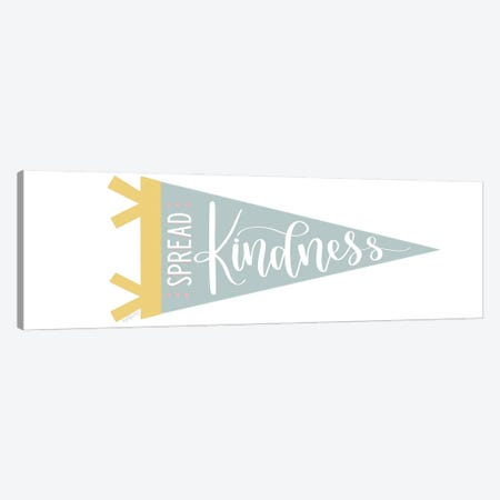 Spread Kindness Pennant Canvas Print #IMD203} by Imperfect Dust Canvas Art Print