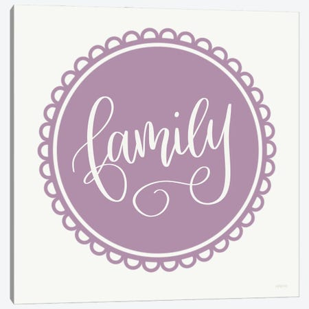 Scalloped Family Canvas Print #IMD215} by Imperfect Dust Canvas Print