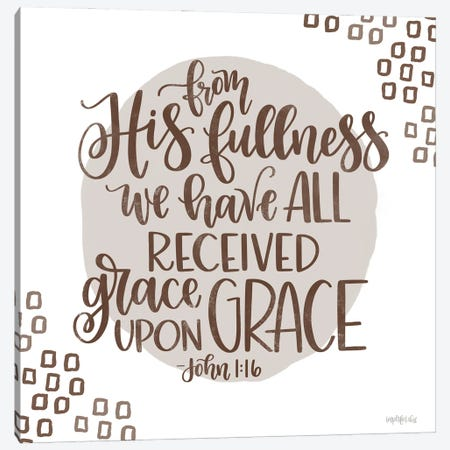 Grace Upon Grace Canvas Print #IMD233} by Imperfect Dust Canvas Wall Art