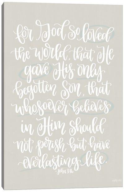 John 3:16 Canvas Art Print