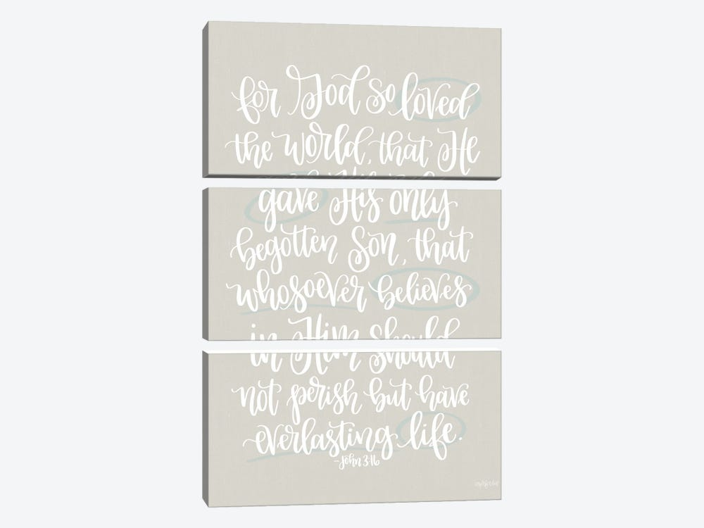 John 3:16 by Imperfect Dust 3-piece Art Print