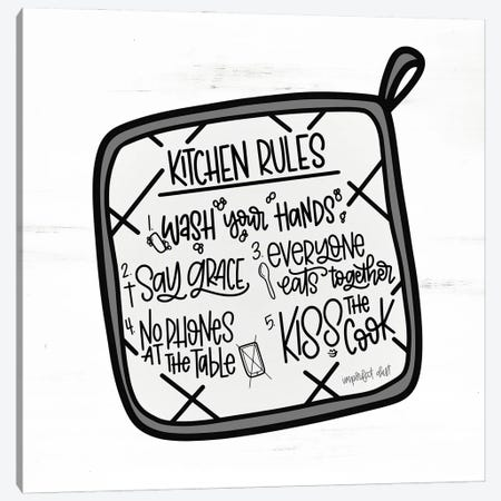 Kitchen Rules Canvas Print #IMD238} by Imperfect Dust Canvas Wall Art