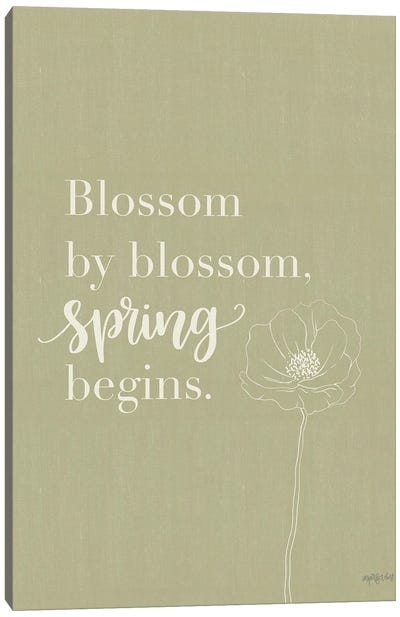Blossom By Blossom Canvas Art Print