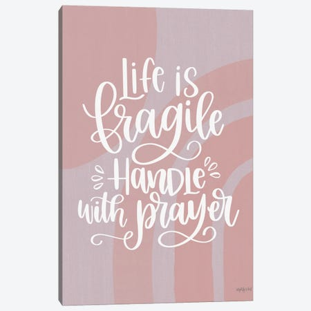 Handle With Prayer Canvas Print #IMD252} by Imperfect Dust Canvas Artwork