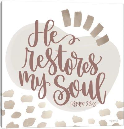 He Restores My Soul Canvas Art Print